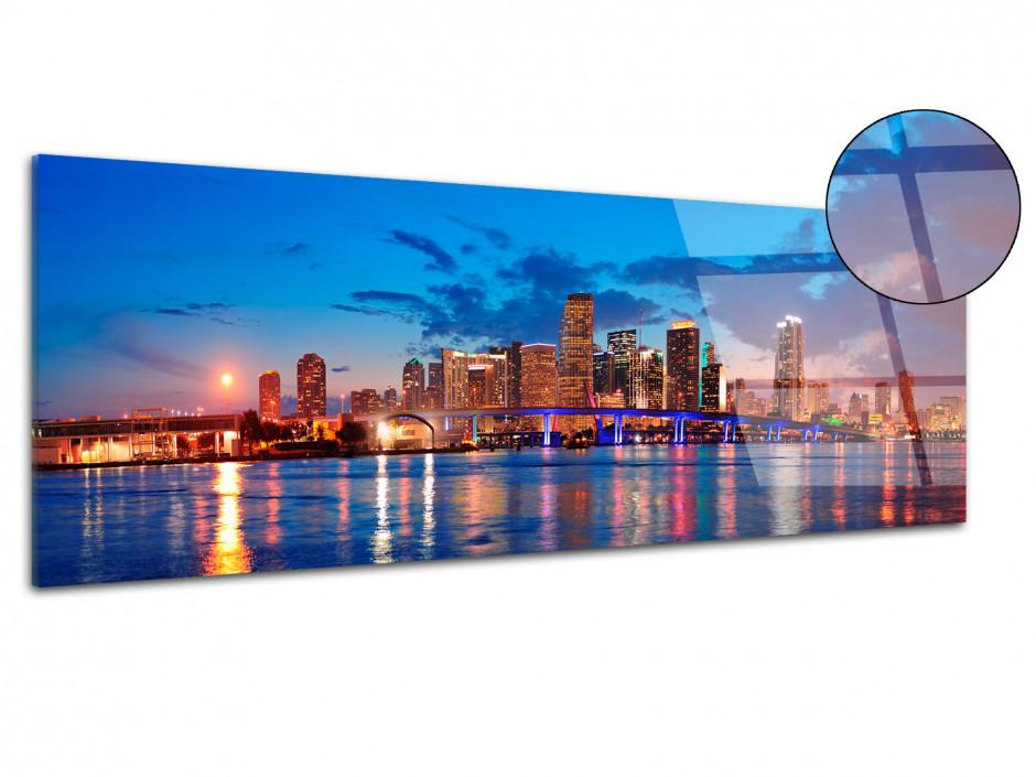 Tableau plexiglas decoratif panoramique sur Miami