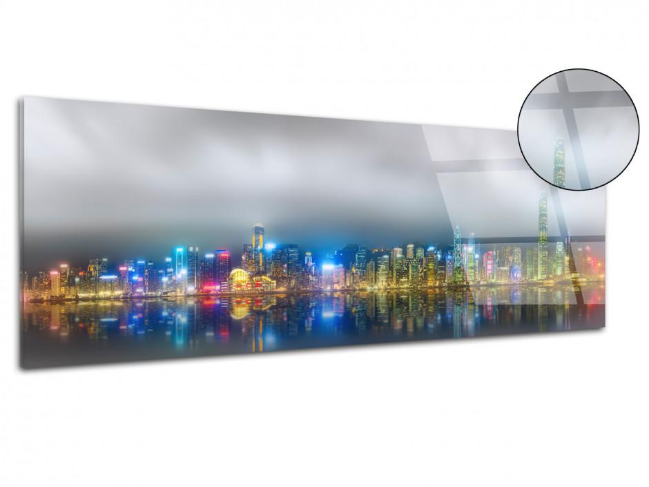 Tableau plexiglas deco Hong Kong de nuit
