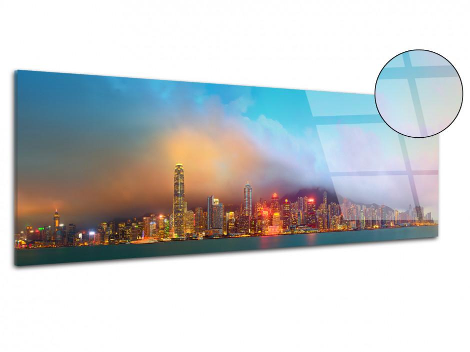 Tableau plexiglas deco panoramique Hong Kong