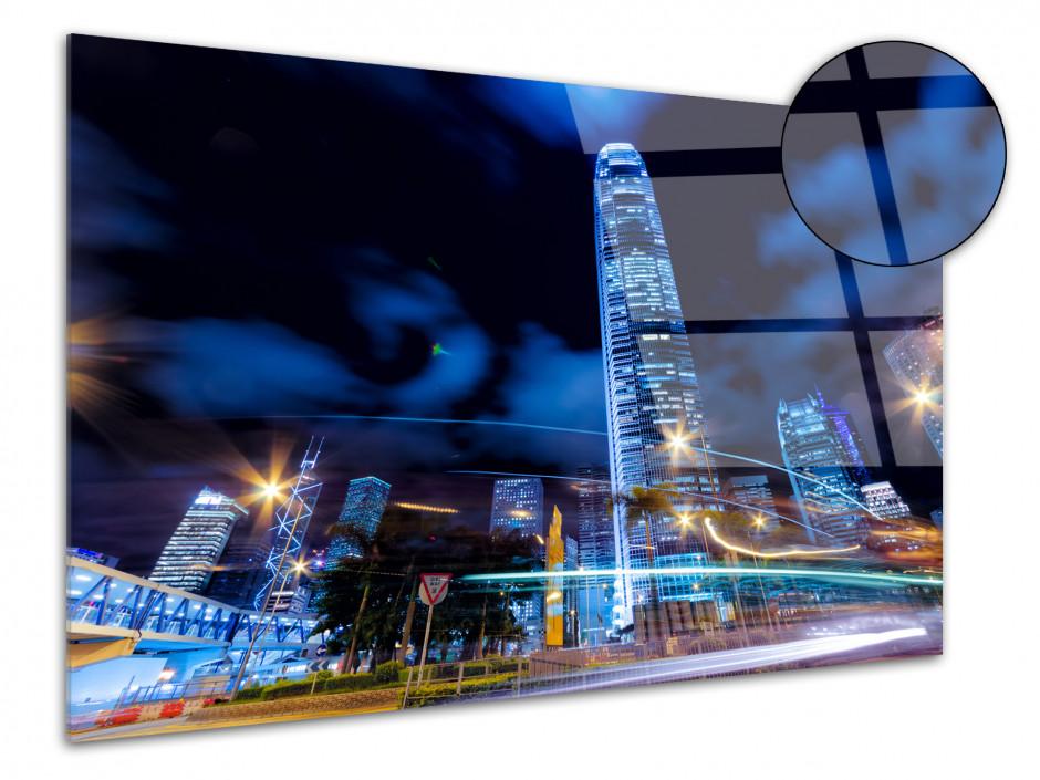 Tableau plexiglas deco design Hong Kong de nuit