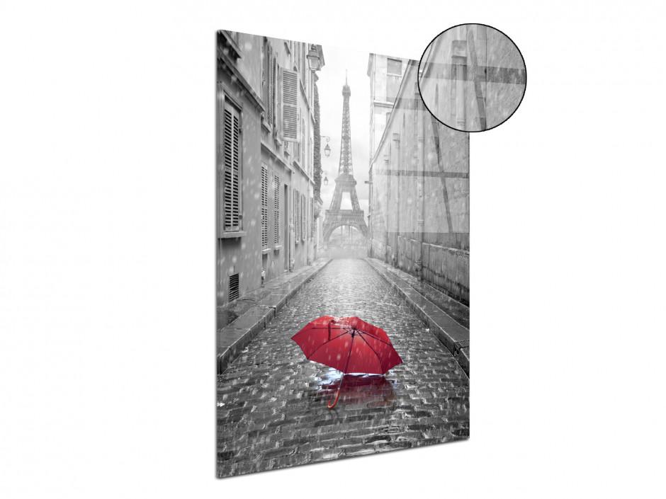 Tableau plexiglas decorative Tour Eiffel et Parapluie