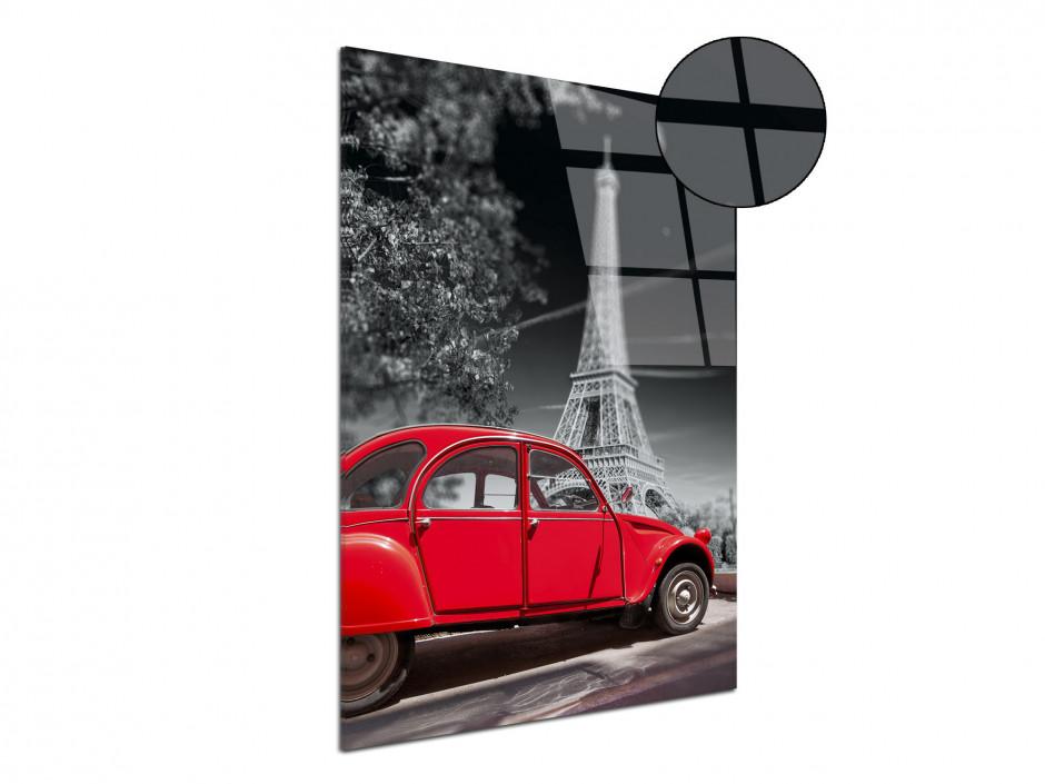 Tableau plexiglas décoratif Tour Eiffel et 2CV