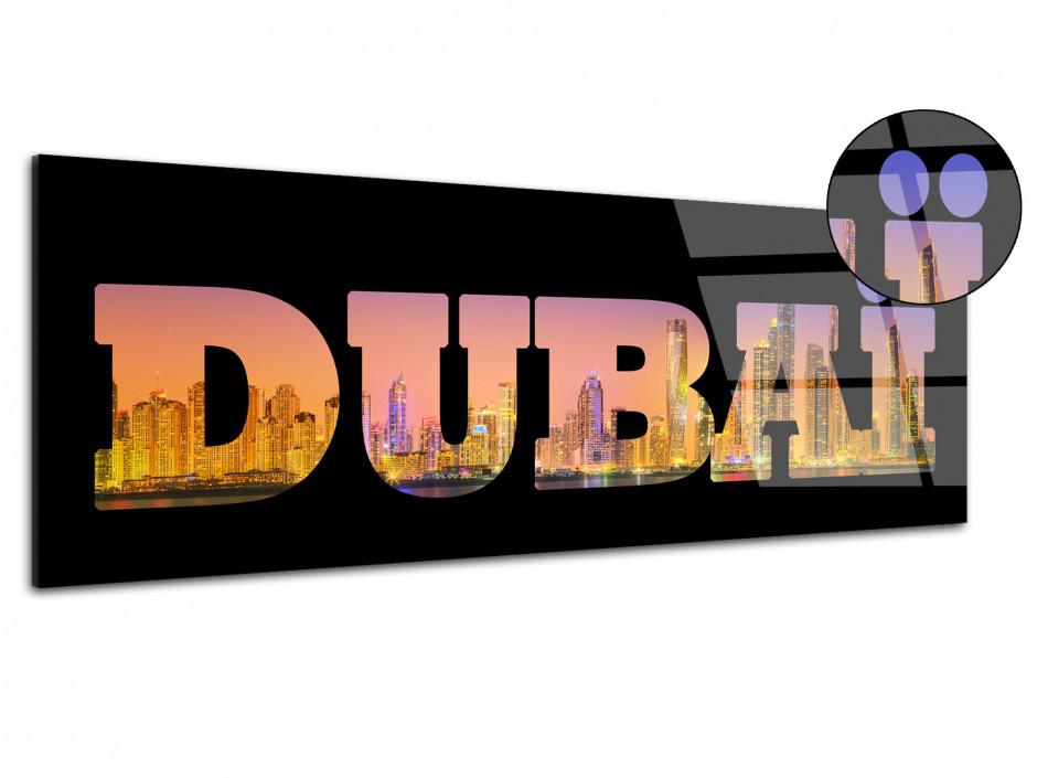 Tableau plexiglas deco lettrage Dubai