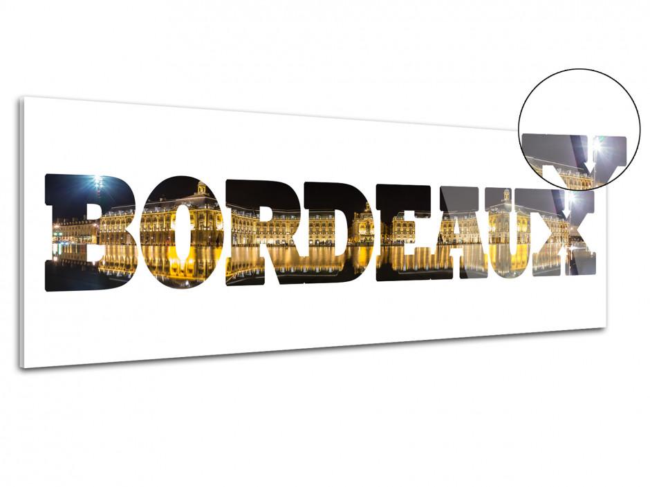 Tableau plexiglas deco lettrage Bordeaux