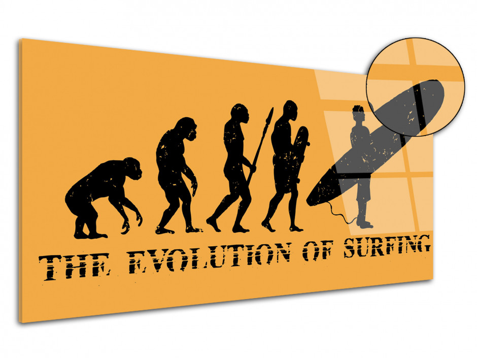 Tableau plexiglas Evolution of Surfing
