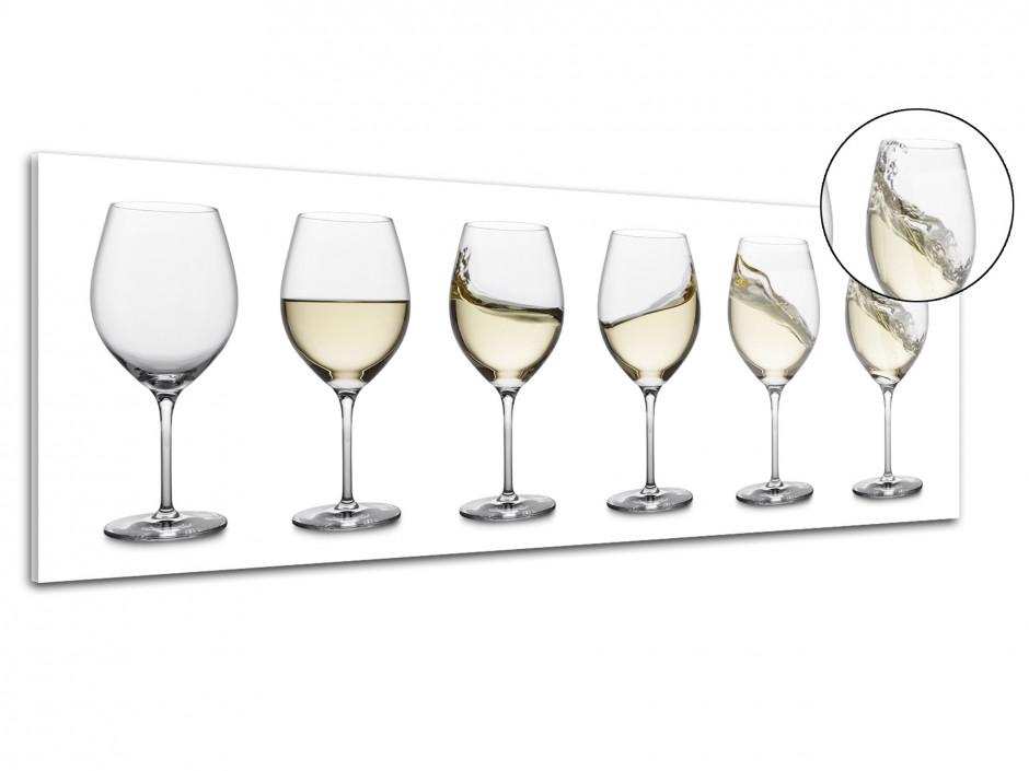 Tableau plexiglas vintage Verre de vin