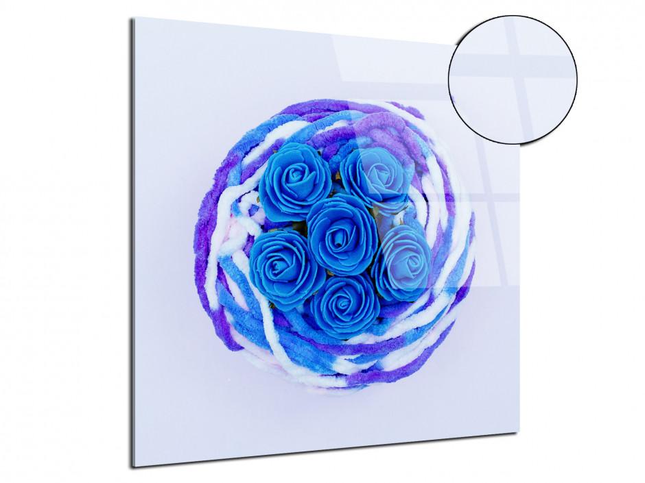 Tableau plexiglas de moderne Les roses bleu