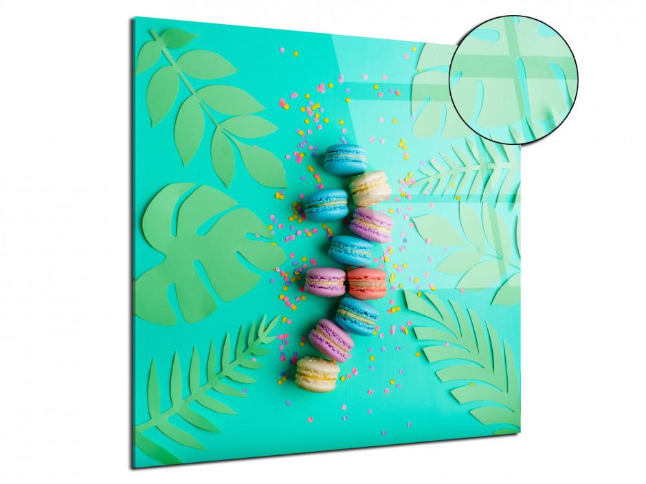 Tableau plexiglas déco moderne Les Macarons