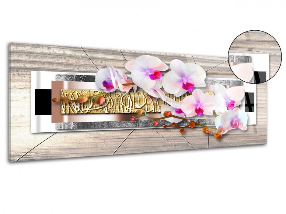 Tableau plexiglas panoramique deco ZEN ORCHIDÉES