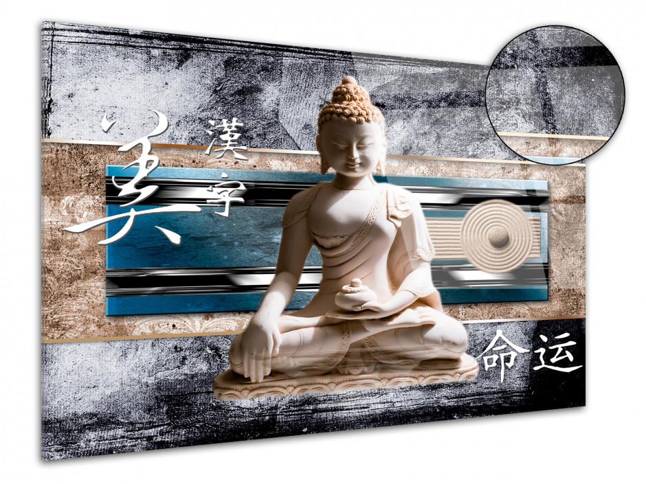 Tableau plexiglas deco zen BOUDDHA ET JAPON