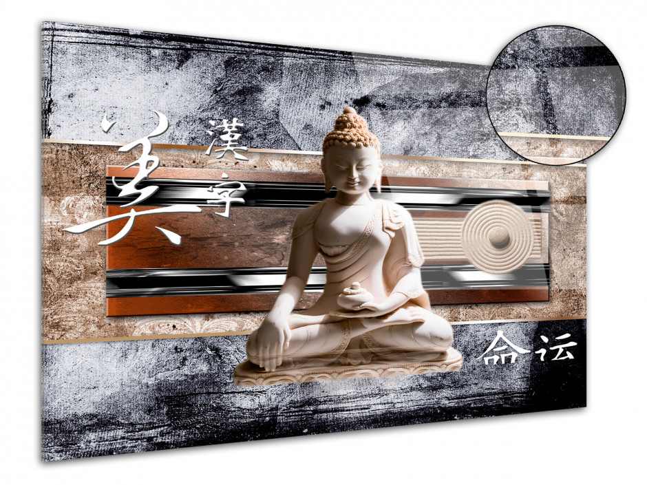 Tableau plexiglas zen STATUE DE BOUDDHA ASIATIQUE