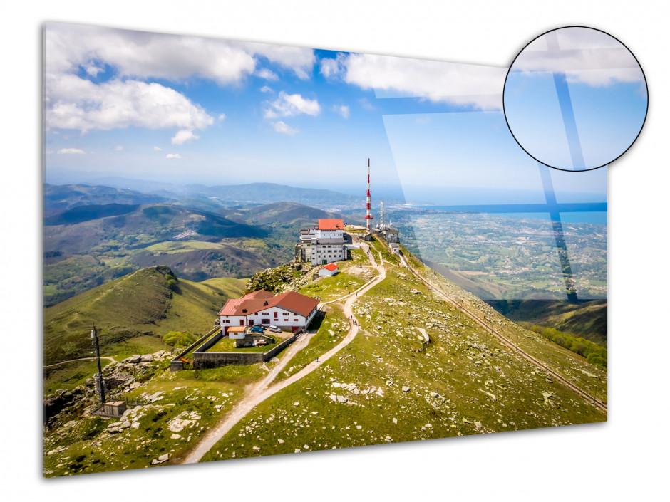 Tableau plexiglas photo paysage La Rhune Pays Basque