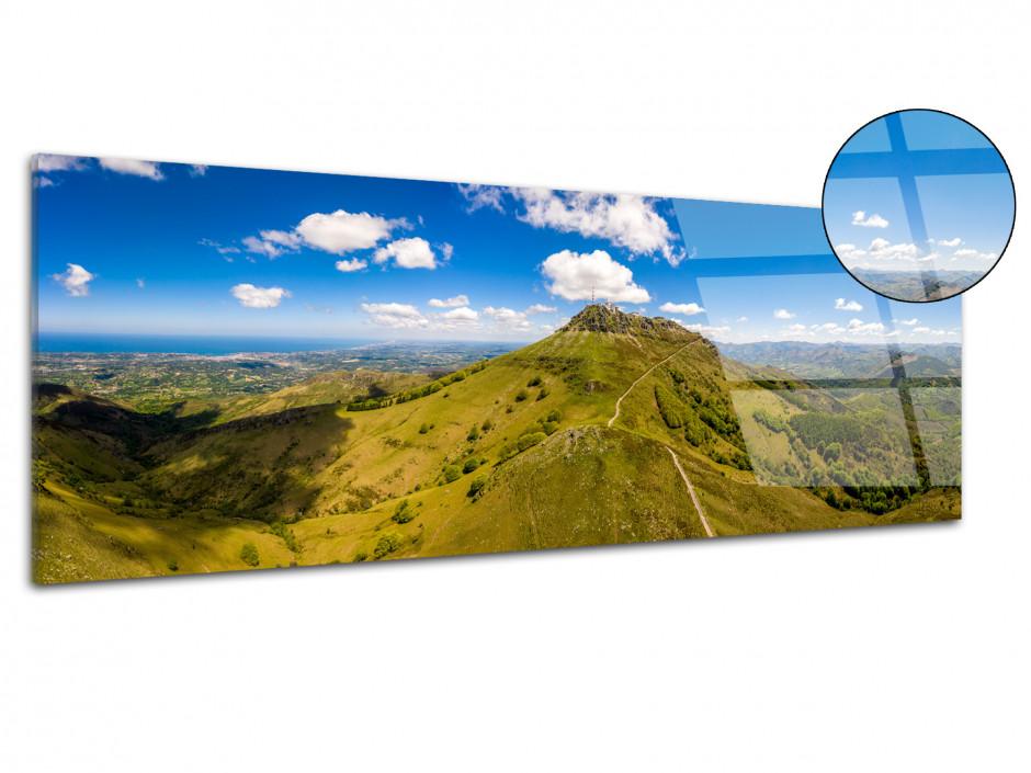 Tableau plexiglas Pays Basque La montagne de la Rhune