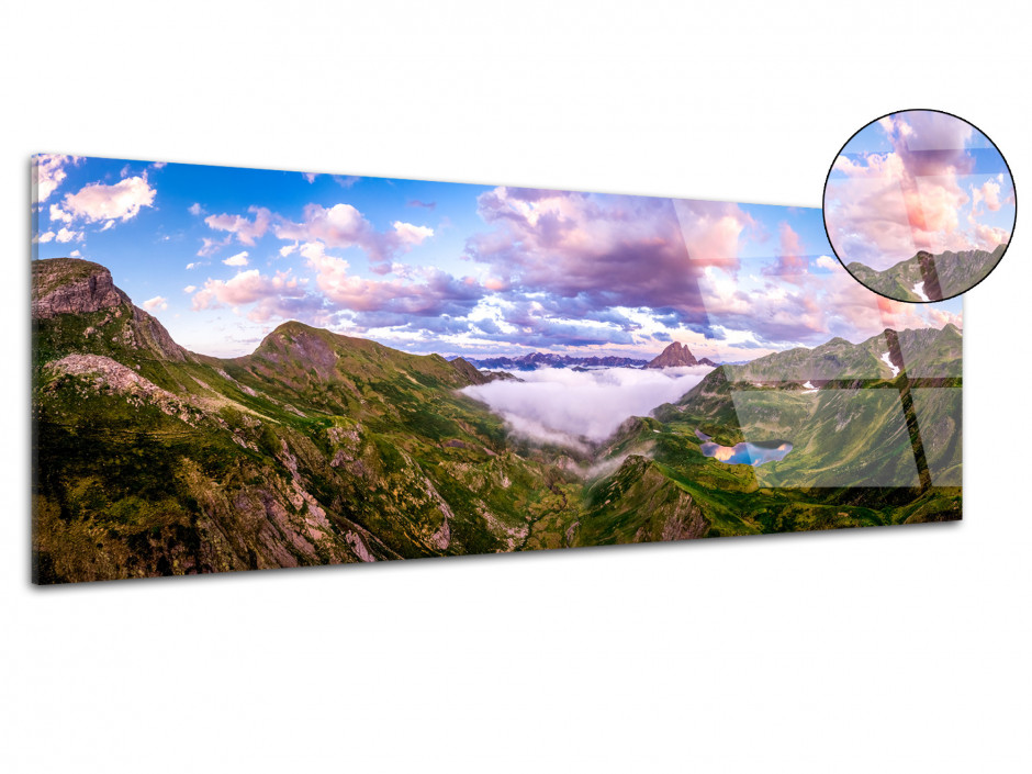 Tableau plexiglas Paysage panorama sur la vallée d'ossau