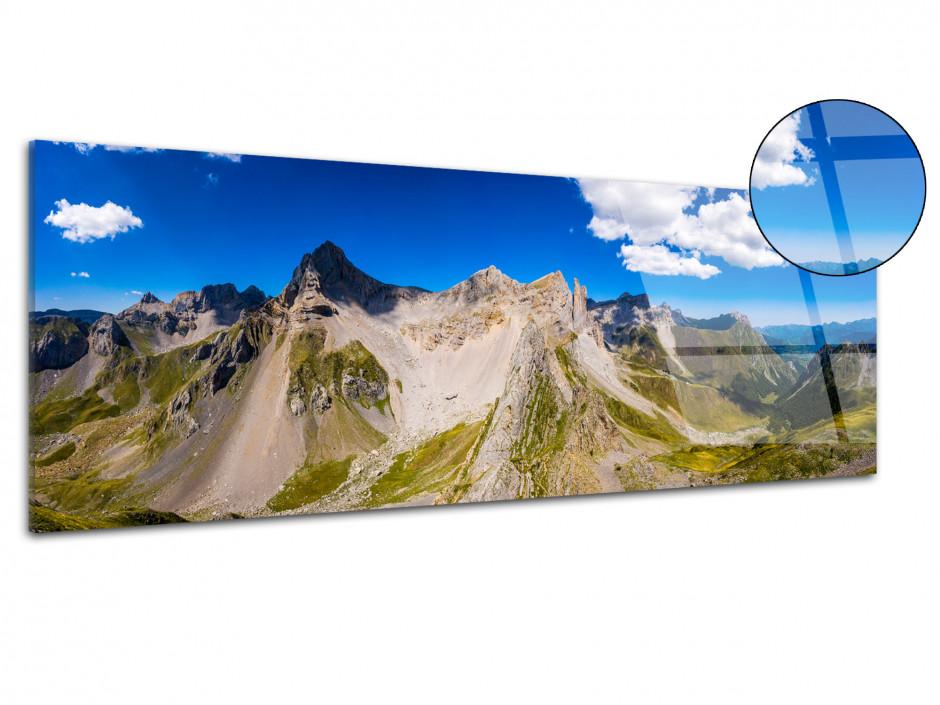 Tableau plexiglas photo panoramique les Aiguilles d'Ansabère