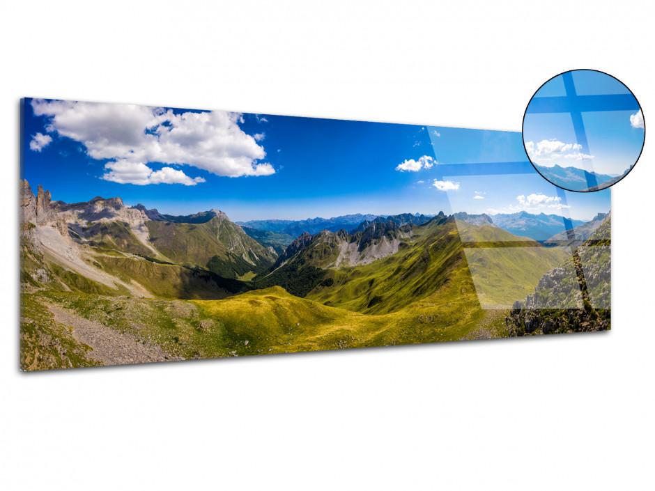 Tableau plexiglas panoramique La Vallée d'Ansabère