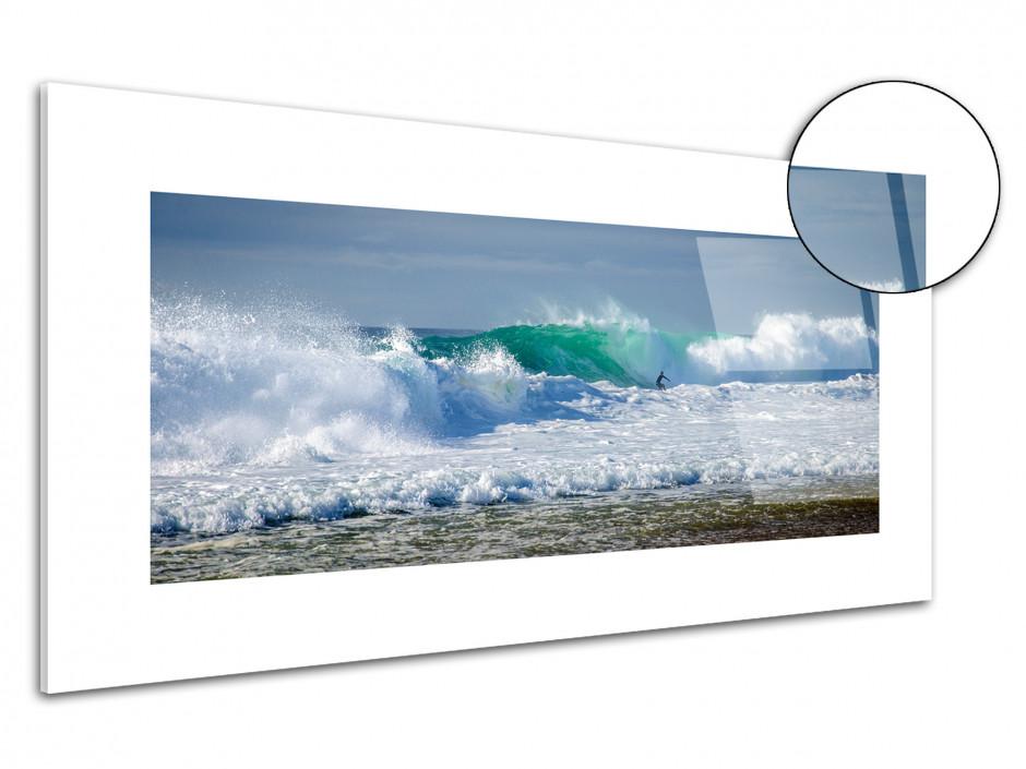 Tableau plexiglas deco surf océan Hossegor
