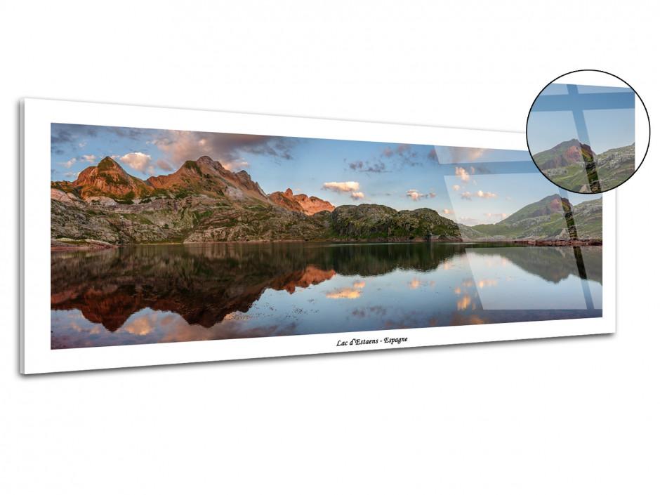 Tableau plexiglas panorama LAC D'ESTAENS