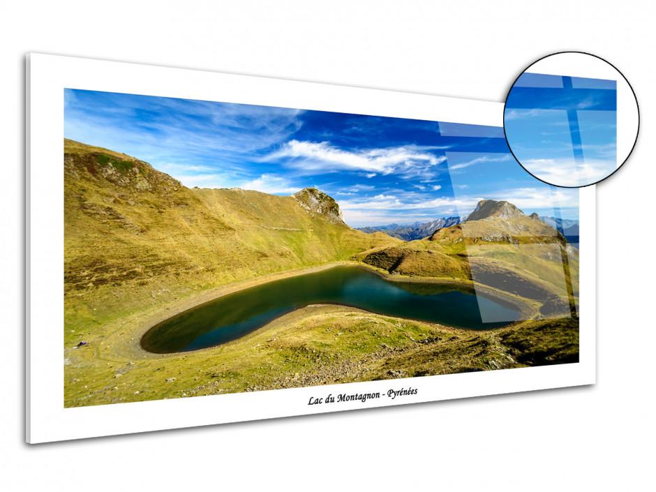 Tableau plexiglas deco lac du montagnon
