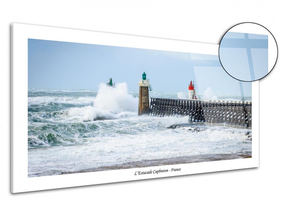 Tableau plexiglas photo tempête à Capbreton