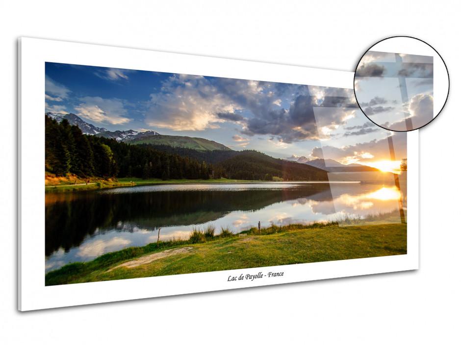 Tableau plexiglas paysage de montagne Lac de Payolle