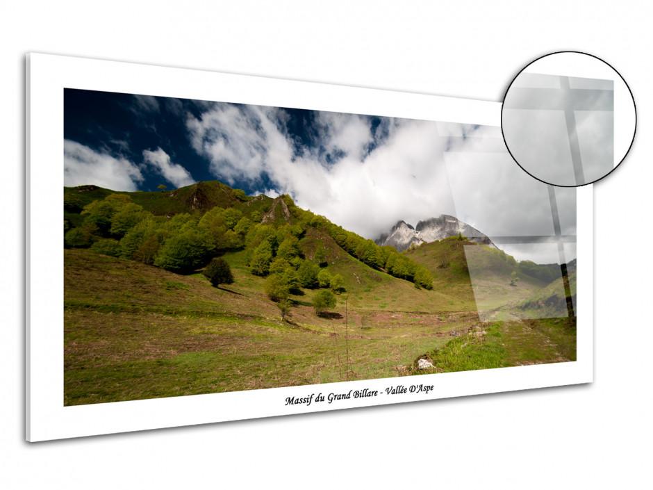 Cadre plexiglas paysage Massif du Grand Billare