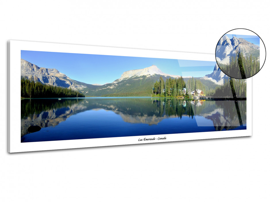 Tableau deco photo Plexiglas LAC EMERAUDE