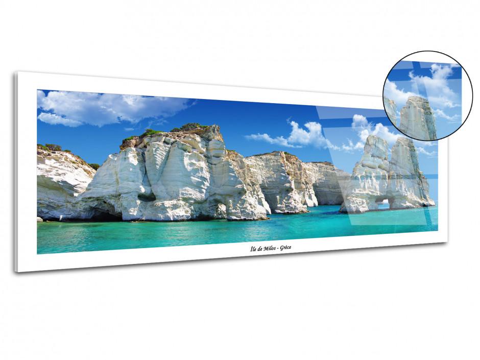 Tableau plexiglas panoramique Île de Milos