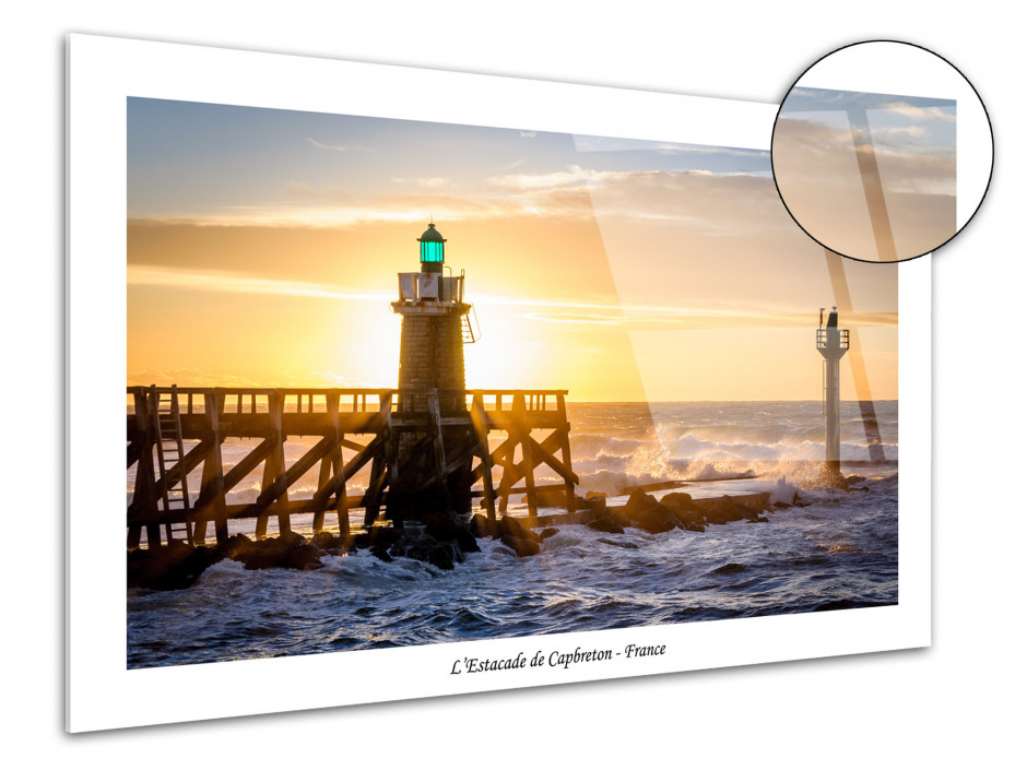 Tableau photo deco plexiglas Phare de Capbreton