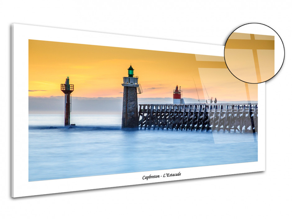 Tableau plexiglas photo L'Estacade au coucher du soleil