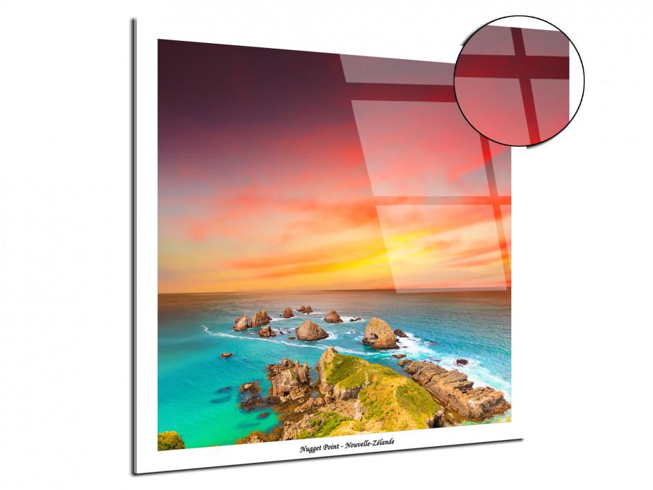 Tableau plexiglas deco paysage Nugget Point