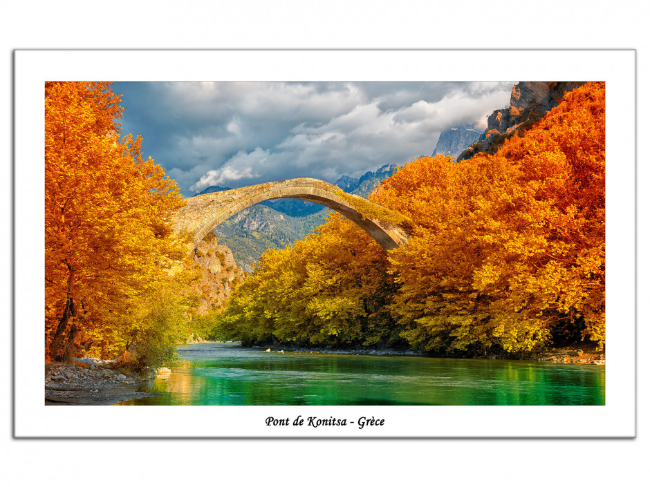 Photo sur plexiglas deco Pont de Konitsa