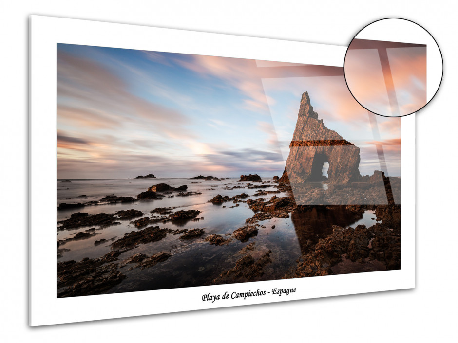Tableau plexiglas photo Playa de Campiechos