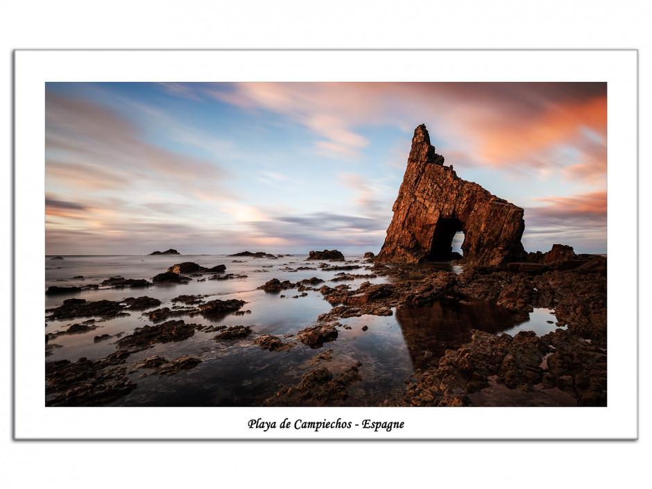 Tableau plexiglas photo Playa de Campiechos