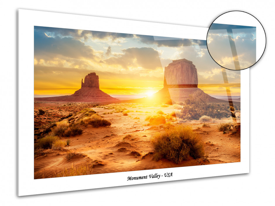 Tableau plexiglas photographie Monument Valley