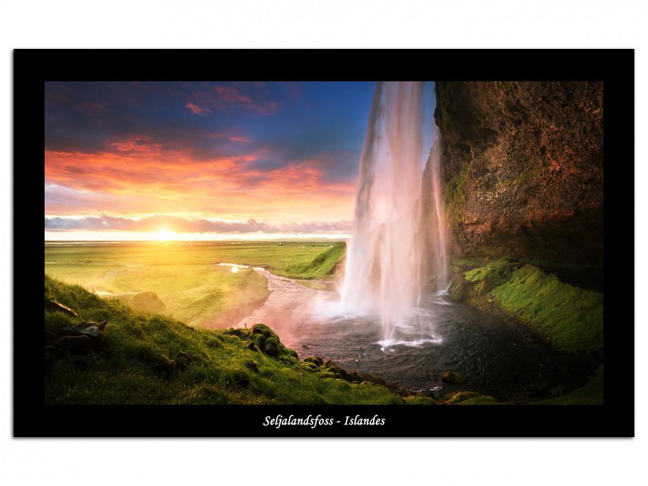 Tableau plexiglas photo Cascade de Seljalandsfoss