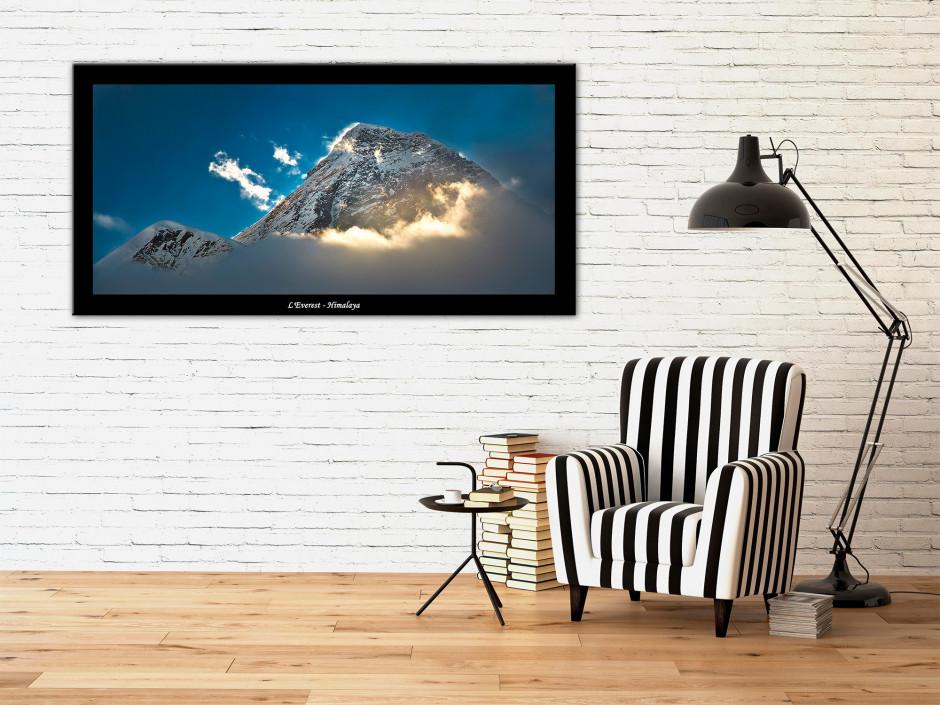 Tableau plexiglas paysage de montagne L'EVEREST