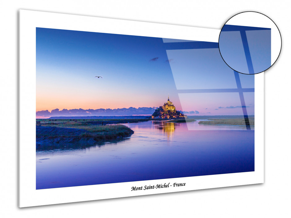 Tableau plexiglas grand format Mont Saint-Michel