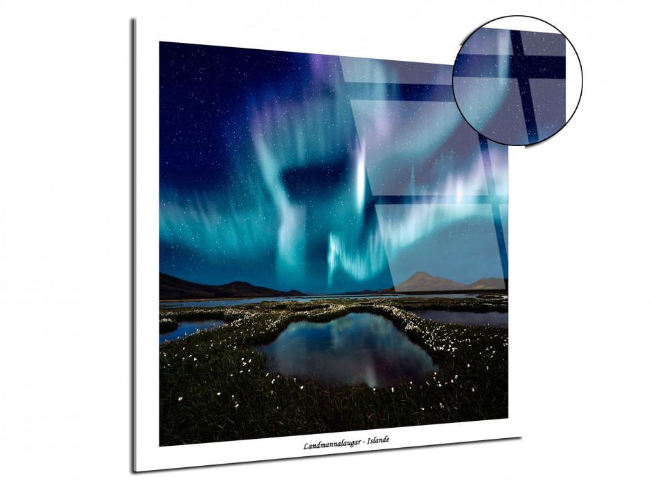 Tableau plexiglas photographie de paysage Aurore Boréale