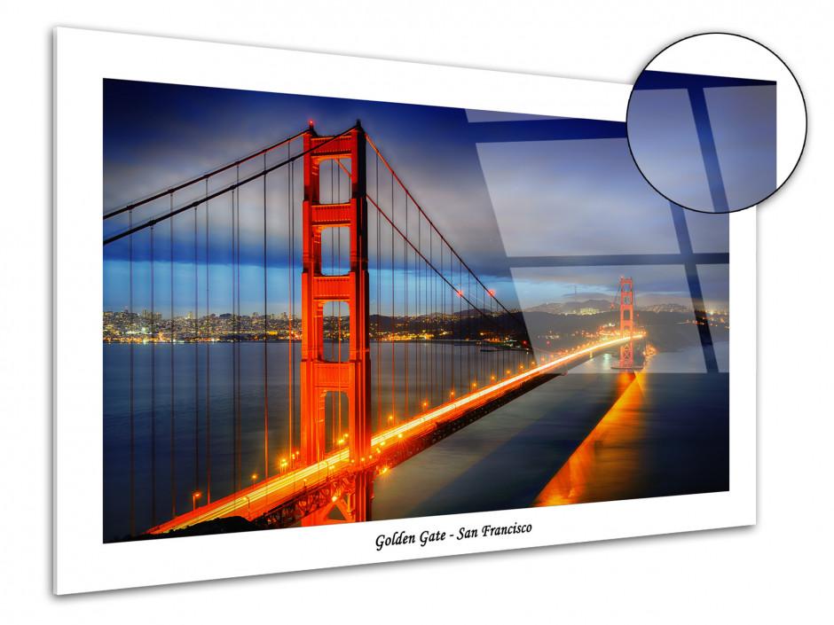 Tableau décoratif plexiglas Pont de San Francisco