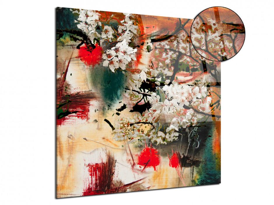 Tableau plexiglas déco peinture Abstraite Flower