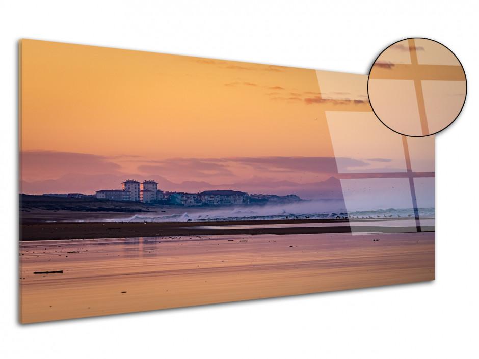 Tableau plexiglas photo levé de soleil sur Hossegor