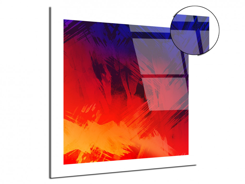 Tableau plexiglas design Abstract Color