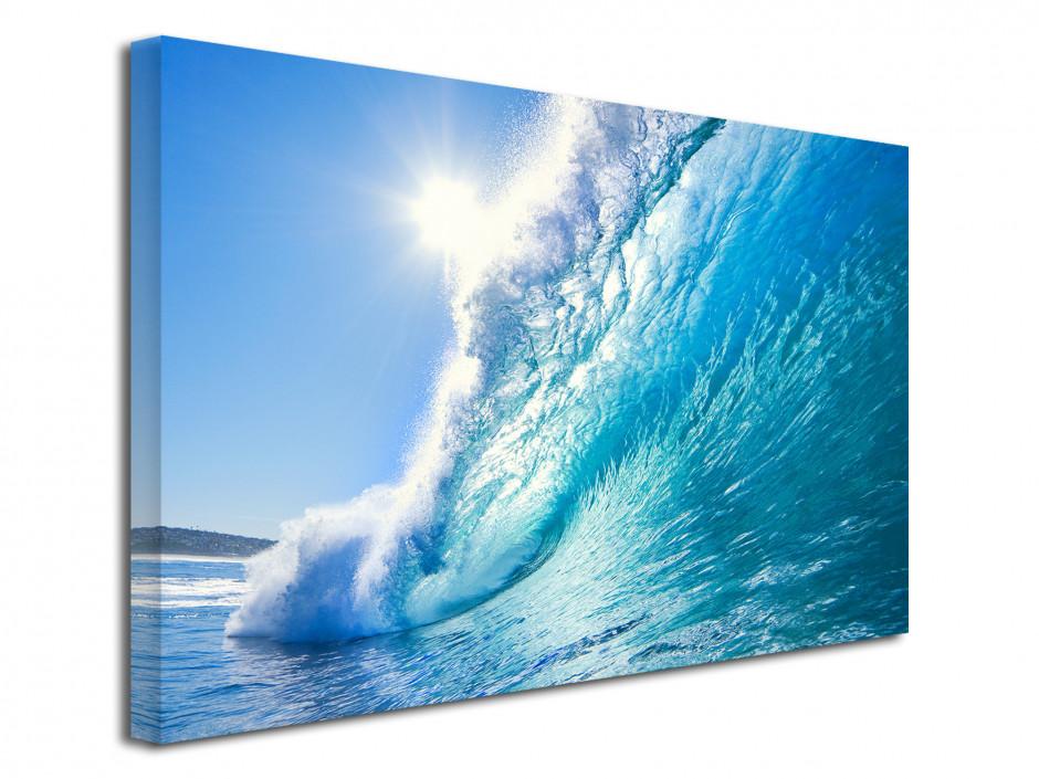 Tableau toile déco murale Grosse Vague Surf