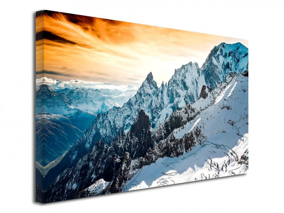 Tableau toile paysage photographie Mont Blanc