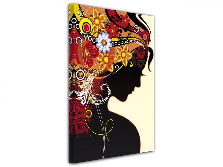 Tableau toile déco moderne Silhouette femme