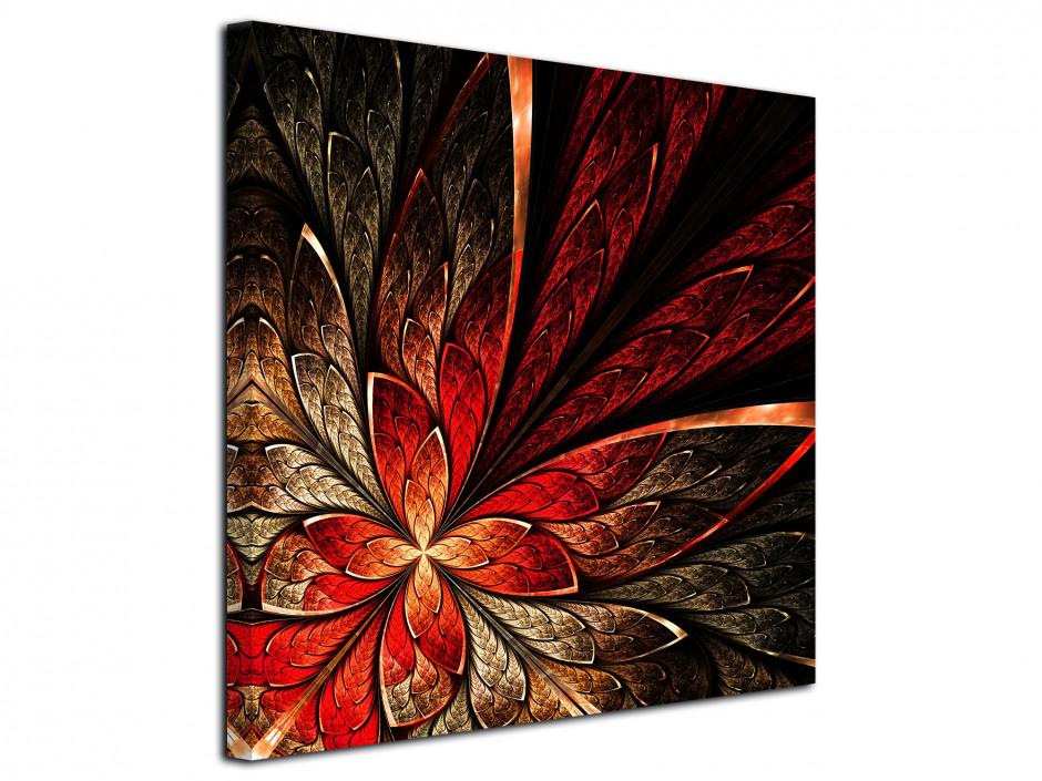 Tableau toile deco Structure de fleurs
