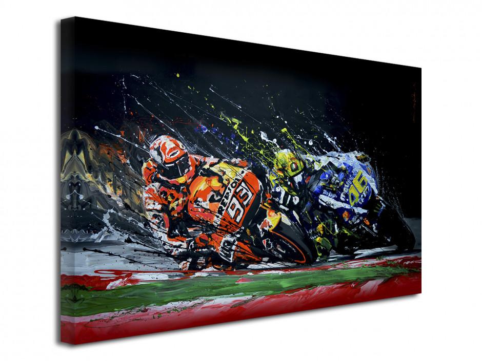 Reproduction tableau Rossi VS Marquez