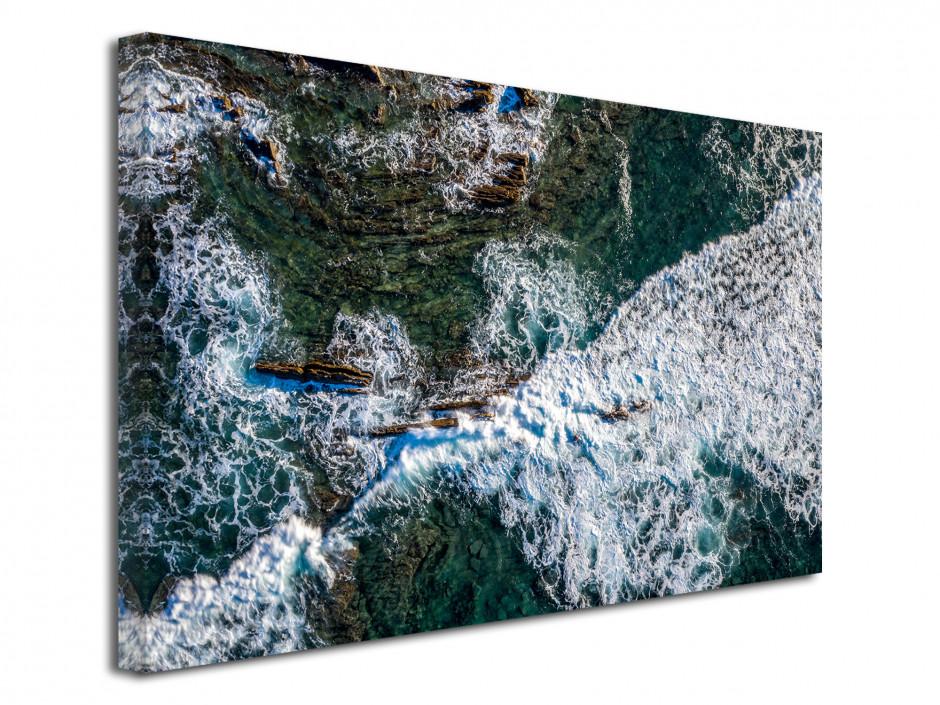 Tableau toile photographie aérienne de l'océan