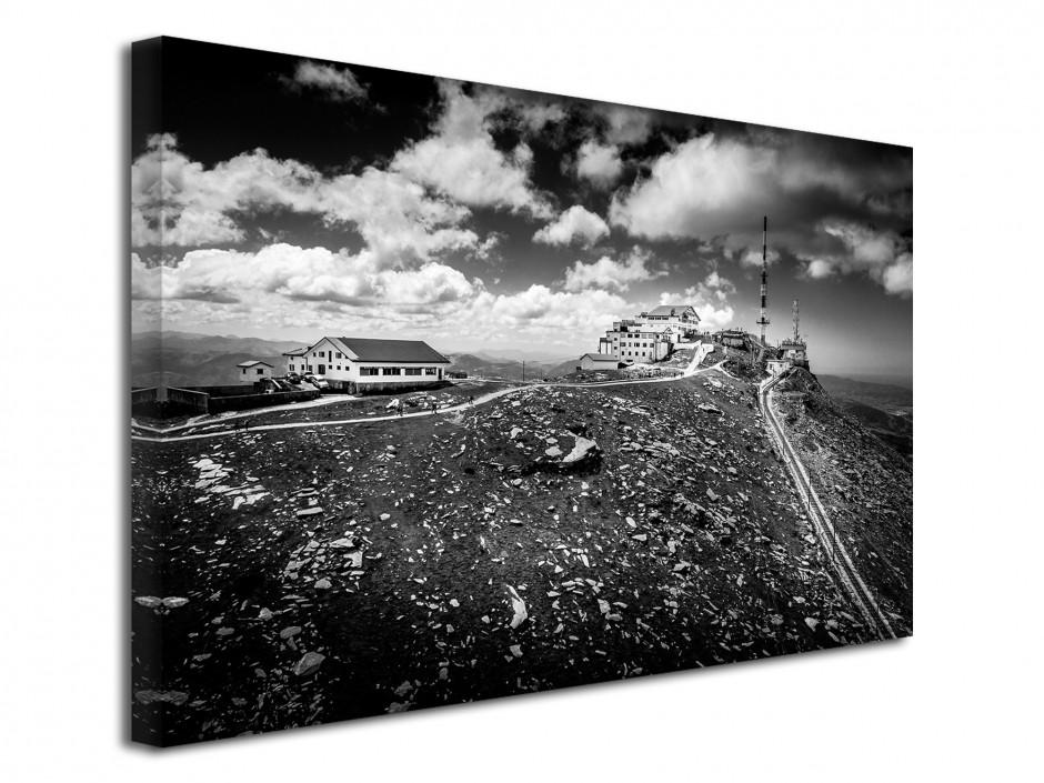 Tableau toile photo la Rhune noir et Blanc